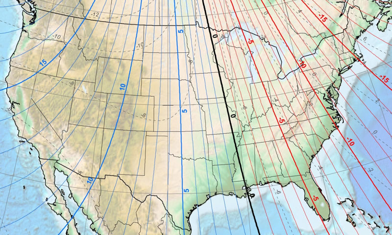 How Would You Set This Declination Survivalist Forum - 2017 magnetic declination map of the us