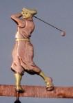 Golfer-Weathervane-Vertical-Design