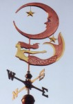 Mermaid Weathervane with Moon