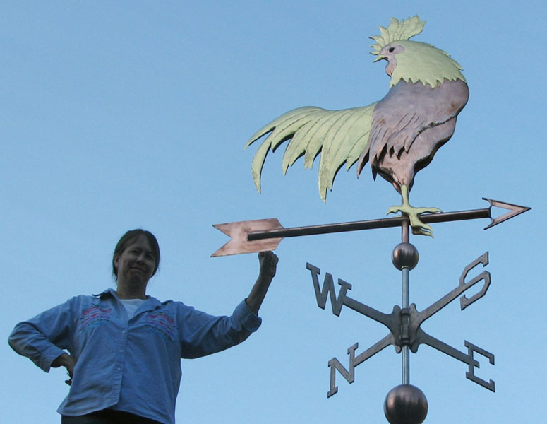 extralarge sized 4 foot sculpture piece west coast - Weather Vanes