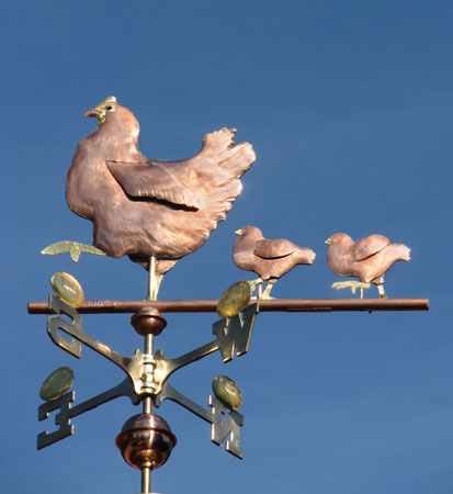 Hen amp chicks weathervane farm inspired weathervanes