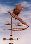 Pheasant-Weather-Vane-in-Flight-with-Feather-P.