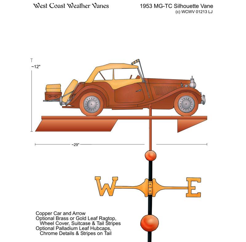 mg td weathervane drawing - Weather Vanes