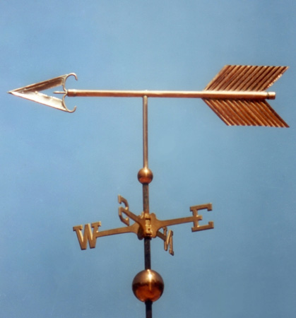 Custom Copper Traditional Arrow Weathervane