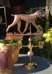 Poodle-Weathervane-Trotting-In-Garden-P