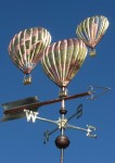 Hot Air Balloon Weather Vane Triple