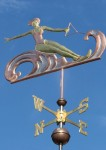 Water Skier Weather Vane