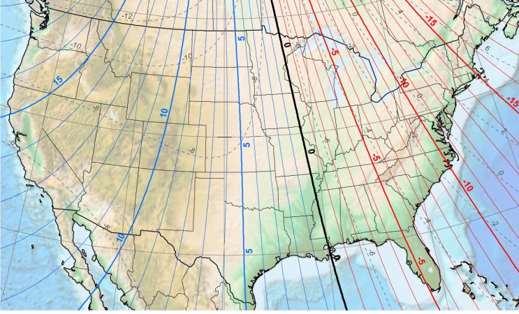 Magnetic Declination West Coast Weathervanes - 2017 magnetic declination map of the us