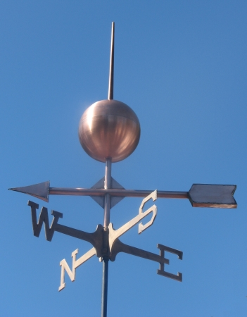Arrow Weathervane With Globe West Coast Weathervanes