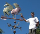 Ben-with-Crowing-Rooster-Weathervane-081315-W1