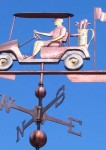 Golf Cart Weathervane with Golfer