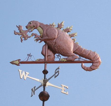 Weathervanes >> Godzilla Weathervane - Customization Available