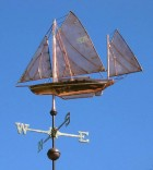 Gaff Rigged Yawl Weathervane