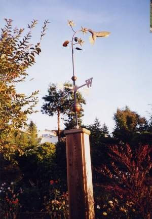 Frog Weathervane In Garden Galvanized Pipe