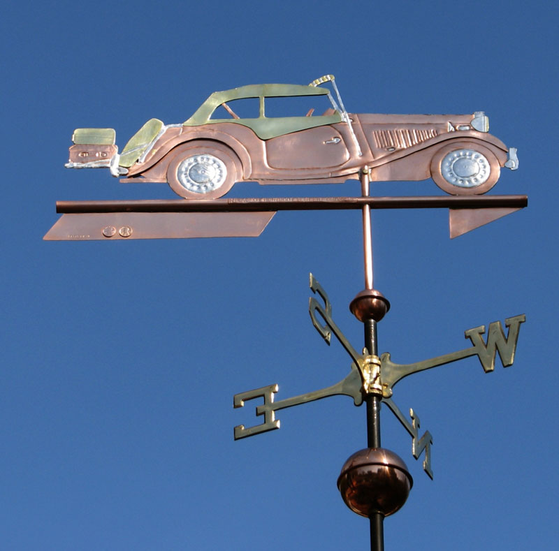 Click to enlarge, 1953 MG TD Silhouette Weathervane