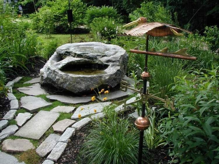 Pelican Weathervane In Garden Galvanized Pipe