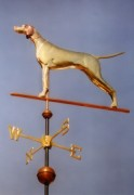 English Pointer Weathervane Standing