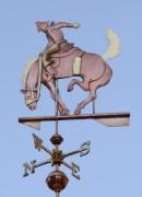 Silhouette Style Saddle Bronc Weathervane