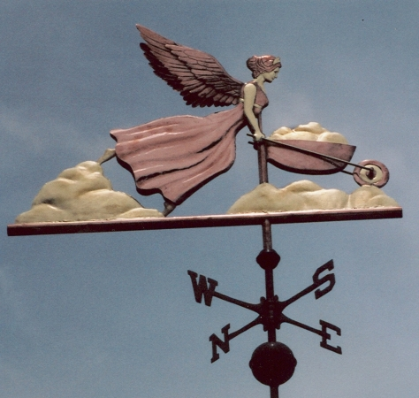Angel Weathervane U2013 Cloud Garden