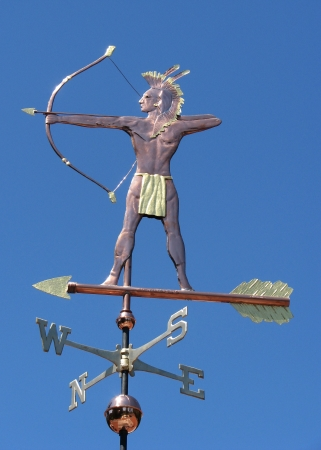 Mohican Indian Weathervane West Coast Weather Vanes