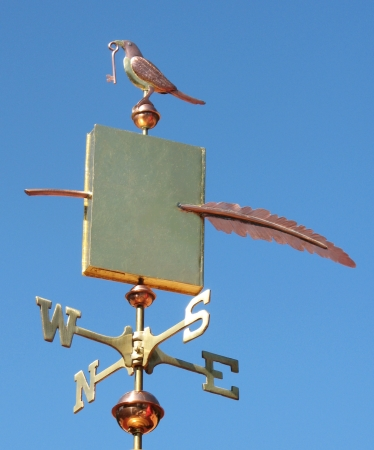 Book Weather Vane With Bird And Key