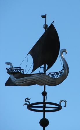 Elven Ship Weathervane - West Coast Weathervanes