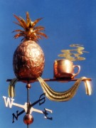 Pineapple-Weathervane-Full-Bodied-with-Cup-W1