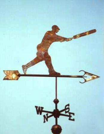 Cricketer Metal Weathervane