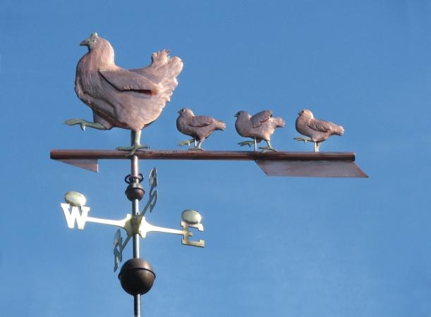 Hen and Chicks Weathervane 082719 w1